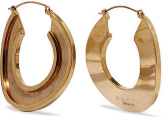 Marni Monile Gold-tone Hoop Earrings