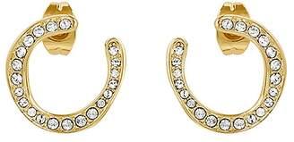 Adore Organic Circle Hoop Rhinestone Earrings