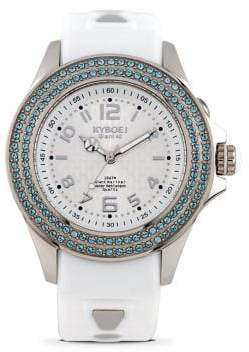 Swarovski KYBOE Radiant Clarity Crystal and Silicone Strap Watch