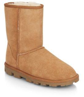 Essential Short Shearling-Lined Suede Boots $154.99 thestylecure.com