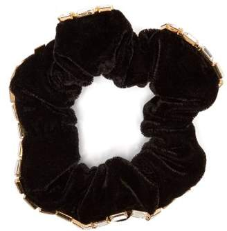 Rosantica By Michela Panero - Luci Velvet And Crystal Embellished Scrunchie - Womens - Crystal
