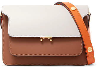 Marni Trunk Medium Color-block Leather Shoulder Bag - Brown