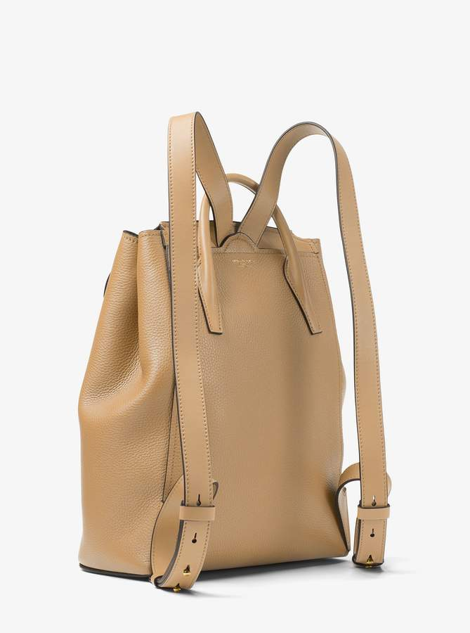 19fd813b21a0 Michael Kors Collection Bancroft Pebbled Calf Leather Backpack detail image