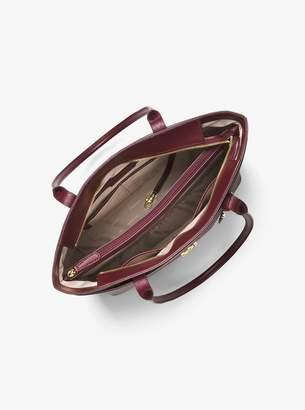 MICHAEL Michael Kors Maddie Large Crossgrain Leather Tote