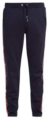 Moncler Relaxed Leg Cotton Blend Track Pants - Mens - Navy