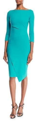 Aitana Body-Con Dress w/ Asymmetric Details