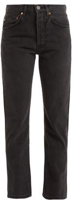 Raey - Clean Hemmed Cigarette Leg Jeans - Womens - Black