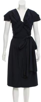 Prada Short Sleeve Midi Dress