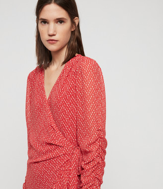 AllSaints Flores Hearts Dress