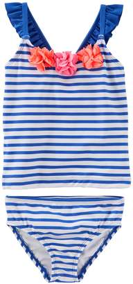 Osh Kosh Oshkosh Bgosh Toddler Girl Striped Tankini & Bikini Bottoms Swim Set
