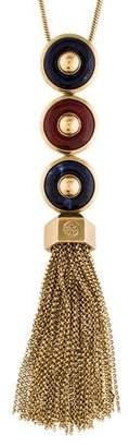 Tory Burch Sodalite & Carnelian Pendant Necklace