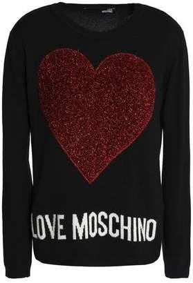 Love Moschino Metallic Intarsia-knit Sweater