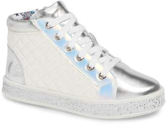 Steve Madden Glittery High Top Sneaker