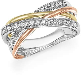 Bloomingdale's Diamond Crossover Statement Ring in 14K Gold, .30 ct. t.w. - 100% Exclusive