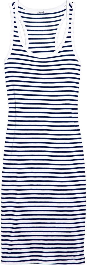 Splendid Florence striped cotton-blend jersey dress