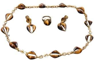 Patek Philippe Tigers Eye 18K Yellow Gold Jewelry Set