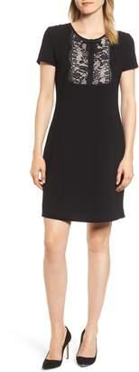 Karl Lagerfeld Paris Lace Bib Sheath Dress