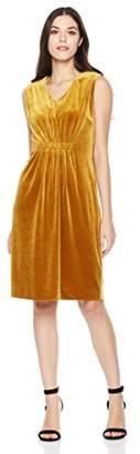 Savoir Faire Dresses Women's Velvet Sleeveless V Neck Elastic Front Dress 6