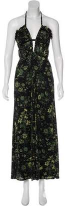 Gucci Flora Halter Dress