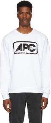 A.P.C. White U.S. Vince Sweatshirt