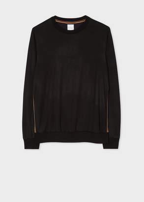 Paul Smith Men's Black 'Artist Stripe' Tape Seam Wool Sweatshirt