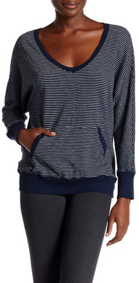 Allen Allen Stripe Dolman U-Neck Sweater $78 thestylecure.com