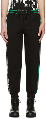 McQ Alexander McQueen Black Striped Lounge Pants $295 thestylecure.com
