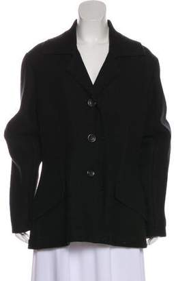 Issey Miyake Wool Button-Up Coat