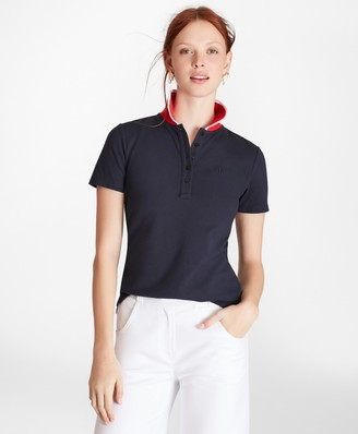 Brooks Brothers Slim-Fit Cotton Pique Contrast-Collar Polo Shirt