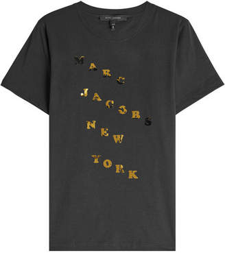Marc Jacobs Cotton T-Shirt with Metallic Print