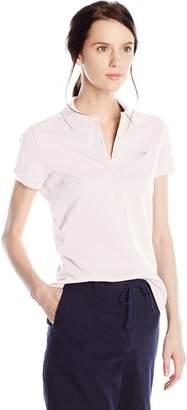 Lacoste Women's Short Sleeve Stretch Pique Slim Fit Polo Shirt
