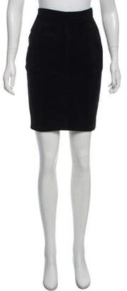 Alaia Suede Knee-Length Skirt