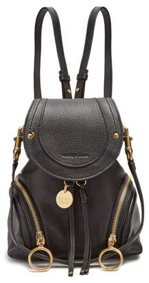 See by Chloe Olga Grained Leather Backpack - Womens - Black