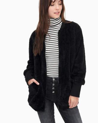 Splendid Grammercy Faux Fur Jacket Black