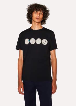 Paul Smith Men's Black 'Gauges' Print Organic-Cotton T-Shirt
