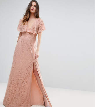 Asos Tall TALL Lace Open Back Maxi Dress