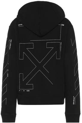 Off-White Off White Printed cotton hoodie