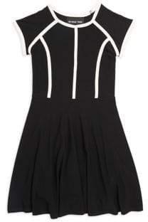 Un Deux Trois Girl's Seam Fit-&-Flare Dress