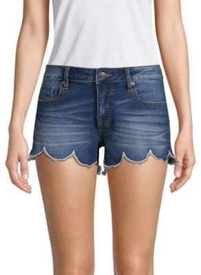Vigoss Scalloped Denim Shorts