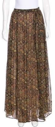 Ronny Kobo Silk Maxi Skirt
