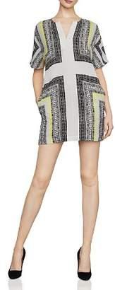 BCBGMAXAZRIA Scarf-Print Shift Dress