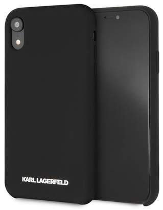 Karl Lagerfeld Black Silicone Soft Touch iPhone XR Case