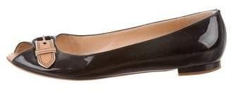 Giuseppe Zanotti Patent Leather Peep-Toe Flats