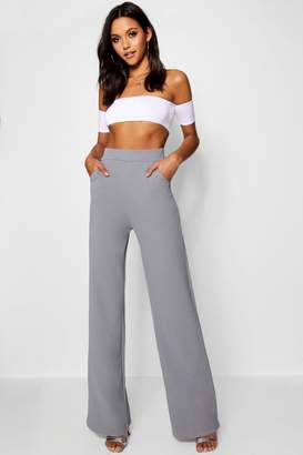 boohoo Tall Avery High Waisted Wide Leg Trousers