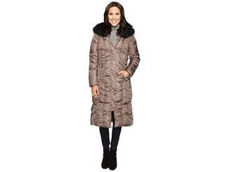 Via Spiga Maxi Coat with Rouching Detail Women's Coat