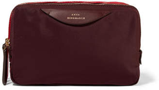 Anya Hindmarch Leather-trimmed Shell Cosmetics Case - Red