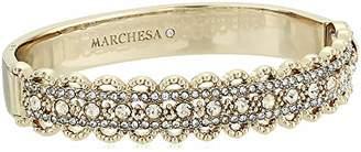 Marchesa Women's Tone Filigree Bangle Bracelet