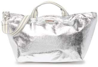 Brasi & Brasi brasi&brasi Metallic Half Stripe Trim Tote Bag
