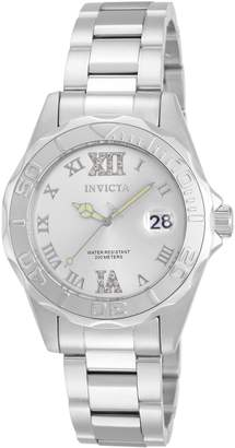 Invicta Women's 12851 Pro Diver Silver Dial Watch with Crystal Accents