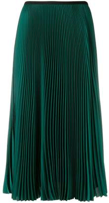 Blanca pleated midi skirt